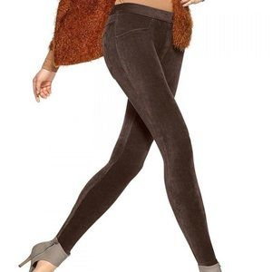 HUE Taupe Corduroy Leggings Pants NWT